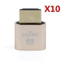10 Pcs VGA Virtual Display Adapter HDMI 1 4 DDC EDID Dummy Plug Headless Ghost Display