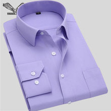 Long Sleeve Slim Men's Business Shirt 2016 Autumn New Fashion Designer High Quality Solid Male Fit Formal Dress Shirt 4XL N351(China)