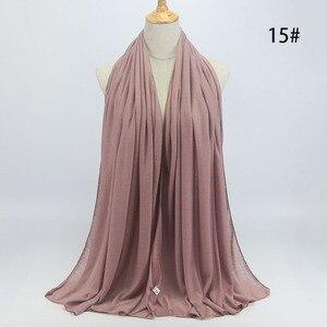 Image 4 - Nuovo hijab Musulmano donne islamiche hijab Musulmano Della Sciarpa Elastica sciarpa in jersey di cotone morbido scialli sciarpe pianura