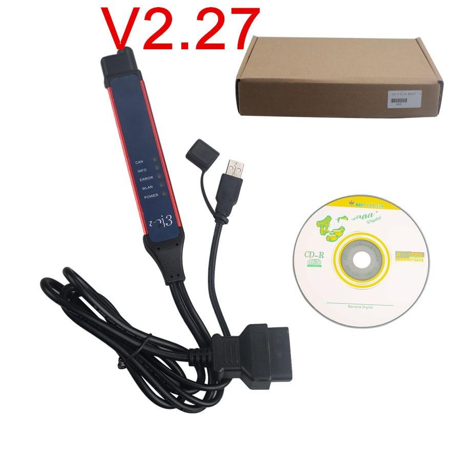 Prix pour Meilleur Qualité VCI-3 Wifi Avec V2.27 SDP3 Logiciel + patch Expiré pour SDP3 VCI3 Sans Fil Camion Diagnostic Outil à Au Lieu de VCI2