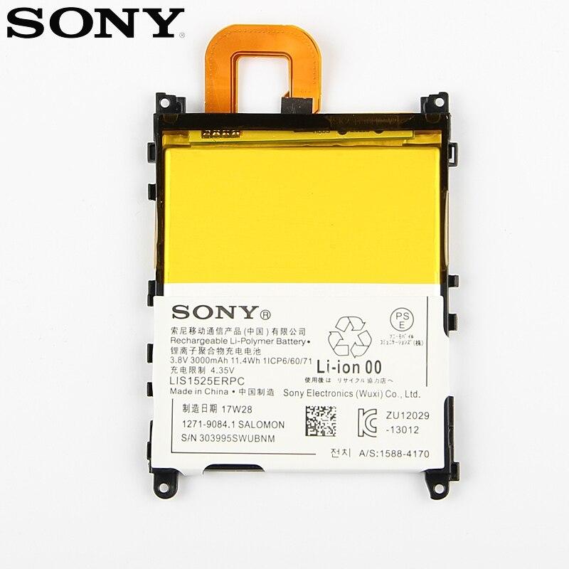 Original Replacement Sony Battery For SONY L39h Xperia Z1 Honami SO-01F C6902 C6903 LIS1525ERPC Genuine Phone Battery 3000mAh