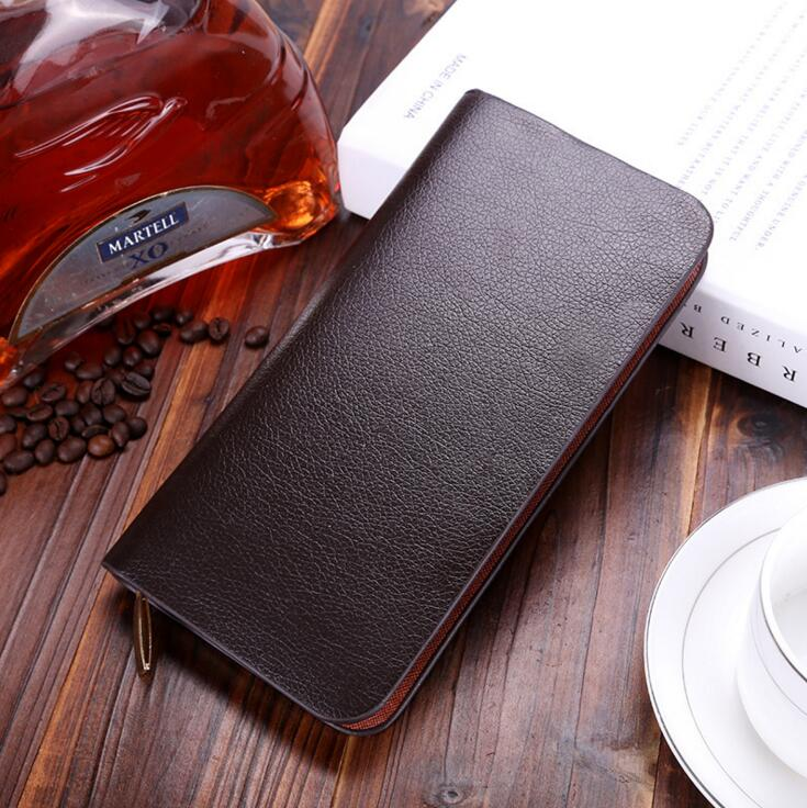 The new PU leather men long wallet zipper fashion hand bag business casual men's wallet mobile phone package
