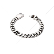 316L Stainless Steel Silver Color Bracelets Round Curb Cuban Chains for Men Mens Bracelet Chain Fashion Jewelry