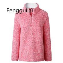 2019 новый женский зимний пуловер свитер водолазка флисовый пуловер воротник молния пушистые теплые