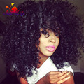 Super Thick Kinky Curly Synthetic Wigs With Bangs Top Quality Heat Resistant Hair Wigs For Black Women Fast Shipping