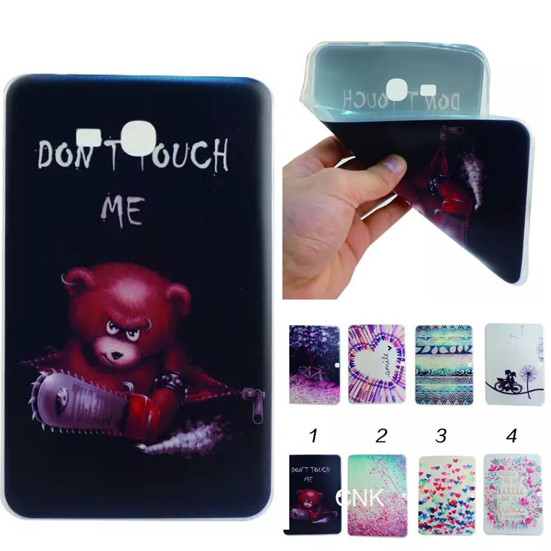 TPU Soft Clear Case Cover For Samsung Galaxy Tab 3 7.0 Lite t110 t111 t113 t 116 Silicon Ultra Slim Skin Shell