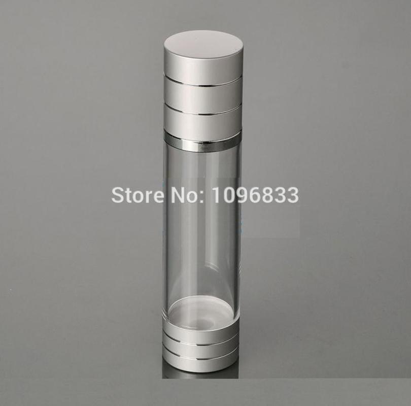 100ml Silver Color Airless Pump Bottle Cosmetic Airless