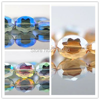 12*16 MM 56 Pcs Mix 3 Cores Oval Jóias Vertente De Cristal de Vidro Contas Loose