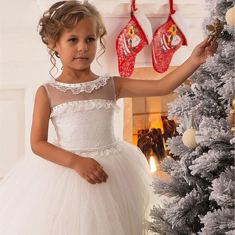 Kurvige Prinzessin Weihnachten Blume Mädchen Kleid Formale Spitze ...