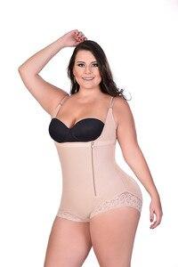 Image 3 - Faja moldeadora de talla grande para mujer, ropa interior adelgazante, body moldeador de cintura, pantalones de Control de talla grande 6XL