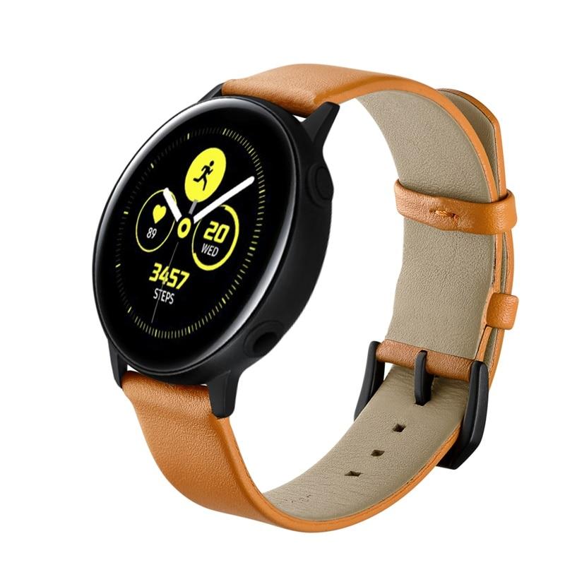 20mm Genuine Leather Watch Strap For Samsung Galaxy Watch Active 42mm Gear S2 Classic Bracelet Band Strap Amazfit Garmin