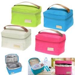 Bolsa de viagem Oxford Tinfoil Duplas Cooler Térmica Almoço Saco Do Piquenique Tote Lunch Bag para Crianças Adultos Populares À Prova D' Água