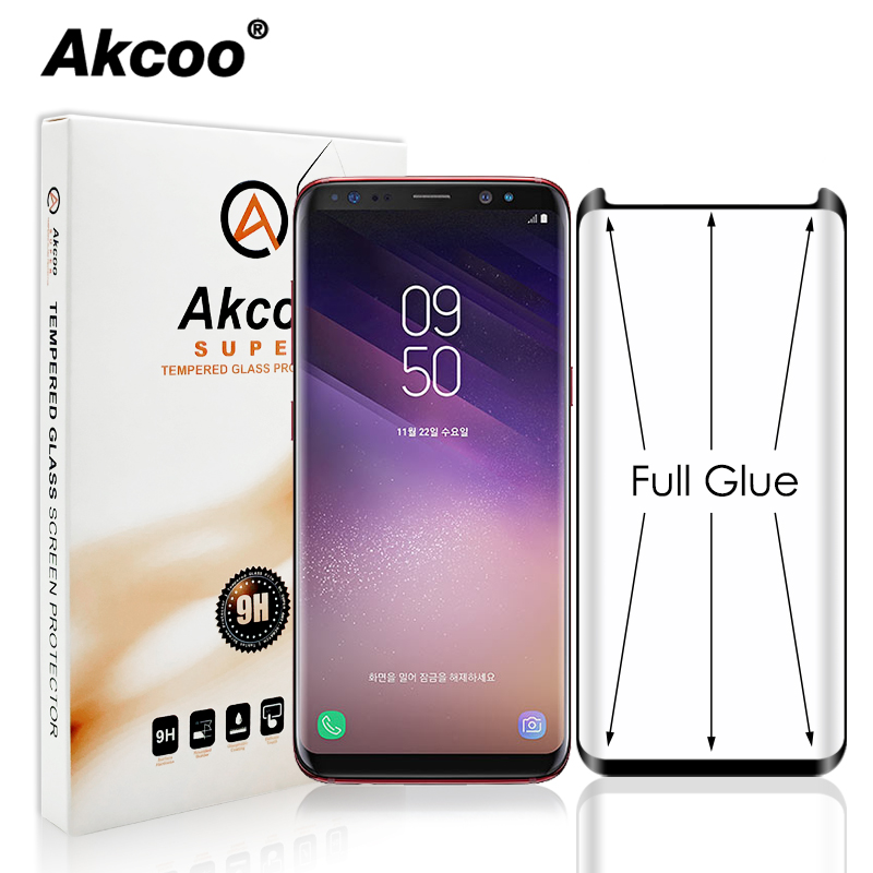 Akcoo S8 Screen Protector full glue for Samsung Galaxy S8 9 Plus note 8 9 full adhesive Case Friendly tempered glass Screen FlimAkcoo S8 Screen Protector full glue for Samsung Galaxy S8 9 Plus note 8 9 full adhesive Case Friendly tempered glass Screen Flim