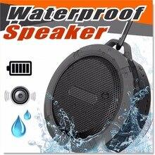 C6 Hoparlor Estéreo Apoio TF Cartão Portátil Mini Alto-falantes Bluetooth Ao Ar Livre com Suporte Gancho MP3 Music Player