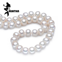 FENASY Pearl Jewelry Natural Pearl Necklace 8 9mm Heart Button Design For Women CLASSIC Necklace Choker