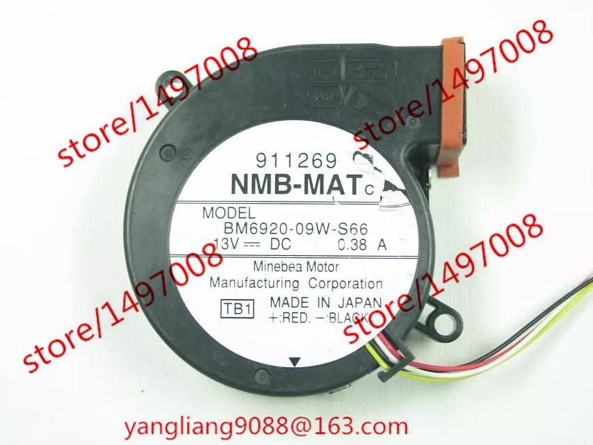 NMB-MAT BM6920-09W-S66, TB1 DC 13V 0.38A Server Blower fan nmb mat 5915pc 12t b30 a00 dc 115v 35a 2 piece 150x172x38mm server round fan
