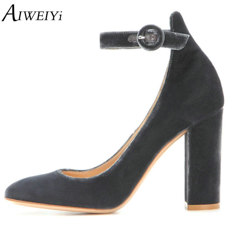AIWEIYi Gladiator High Heels 10CM Women Pumps Black Ladies Wedding Shoes Thick High Heels Ankle Buckle Strap Shoes Woman new women gladiator sandals ladies pumps high heels shoes woman clear transparent t strap party wedding dress thick crystal heel