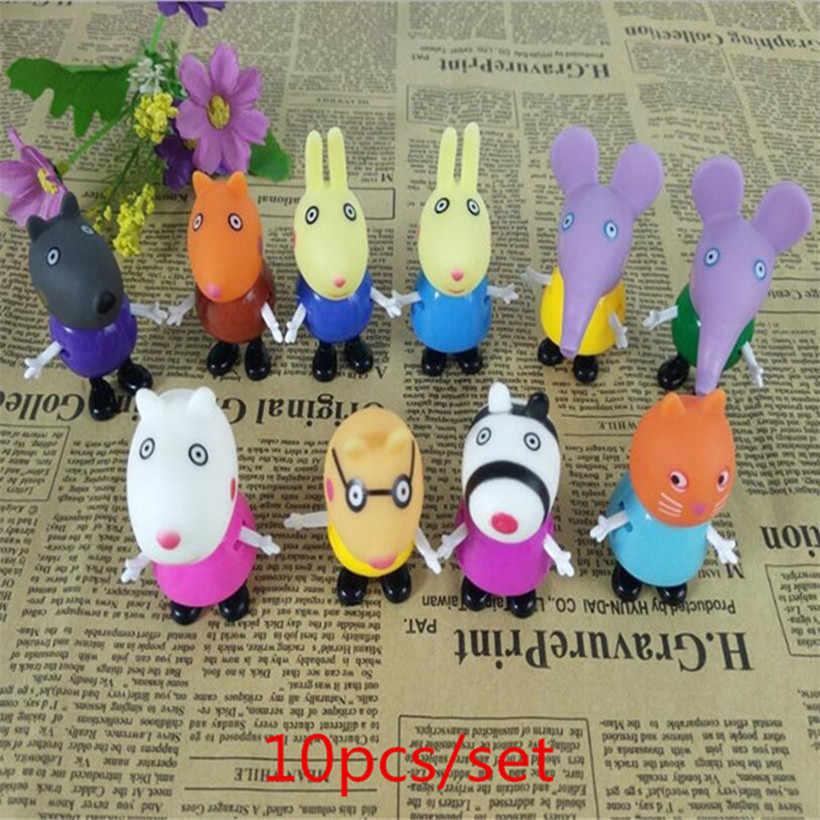 Peppa Pig George papá mamá familia acción figura Pelucia juguetes para niños regalos de cumpleaños