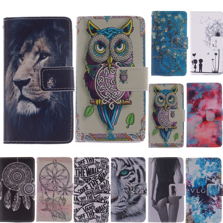 fashion sexy girl tiger owl cute pu Leather Magnetic Flip phone Case For Apple iPhone 6