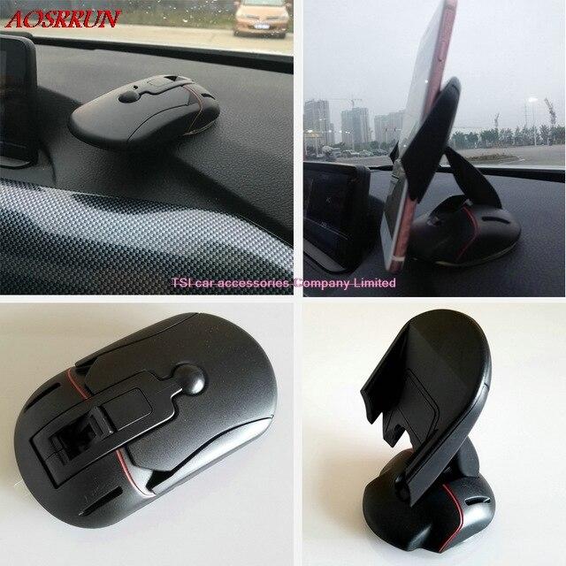 Деформируемого автомобильный держатель телефона Мыши стиль автомобиля Аксессуары для <font><b>Audi</b></font> A1 A3 A4 A5 <font><b>A6</b></font> A7 A8 Q3 Q5 Q7 r8 TT S3 S5 S6 S7 S8 SQ5 SQ7 SQ3