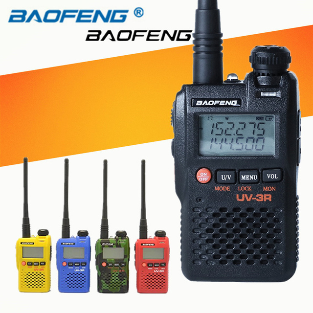 2 PCS Baofeng UV 3R Portable Mini Walkie Talkie Two Way Ham VHF UHF Radio Station Transceiver Boafeng Dual Double Band Scanner