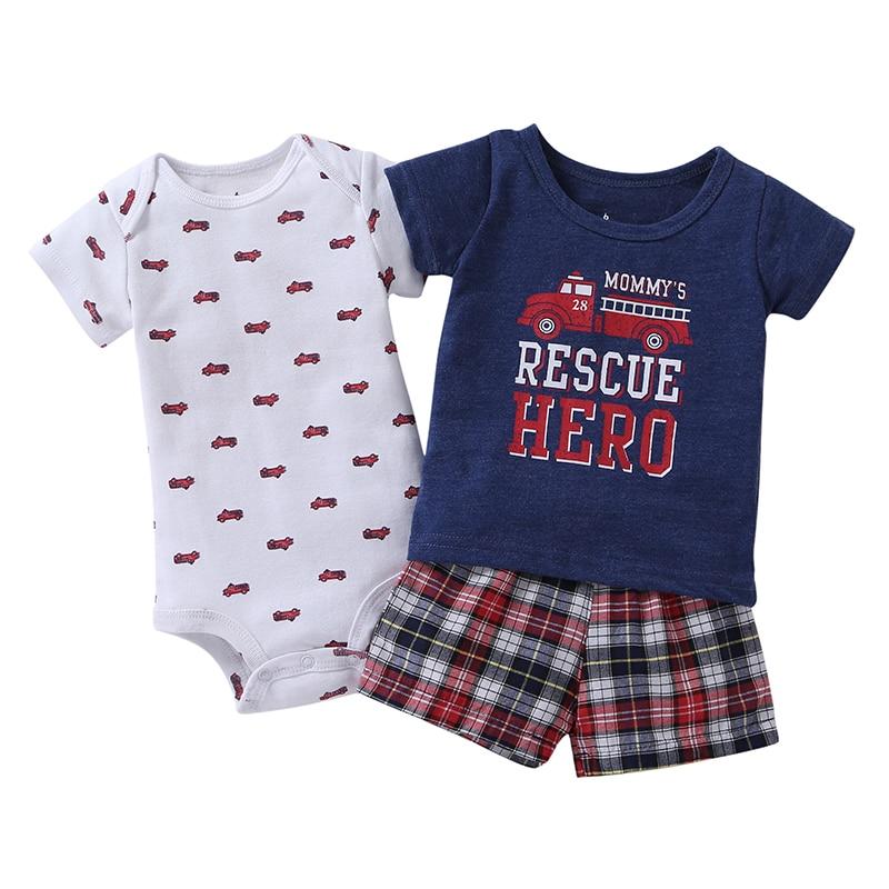 2019 venta caliente 3 juegos de algodón de manga corta bebé para - Ropa de bebé