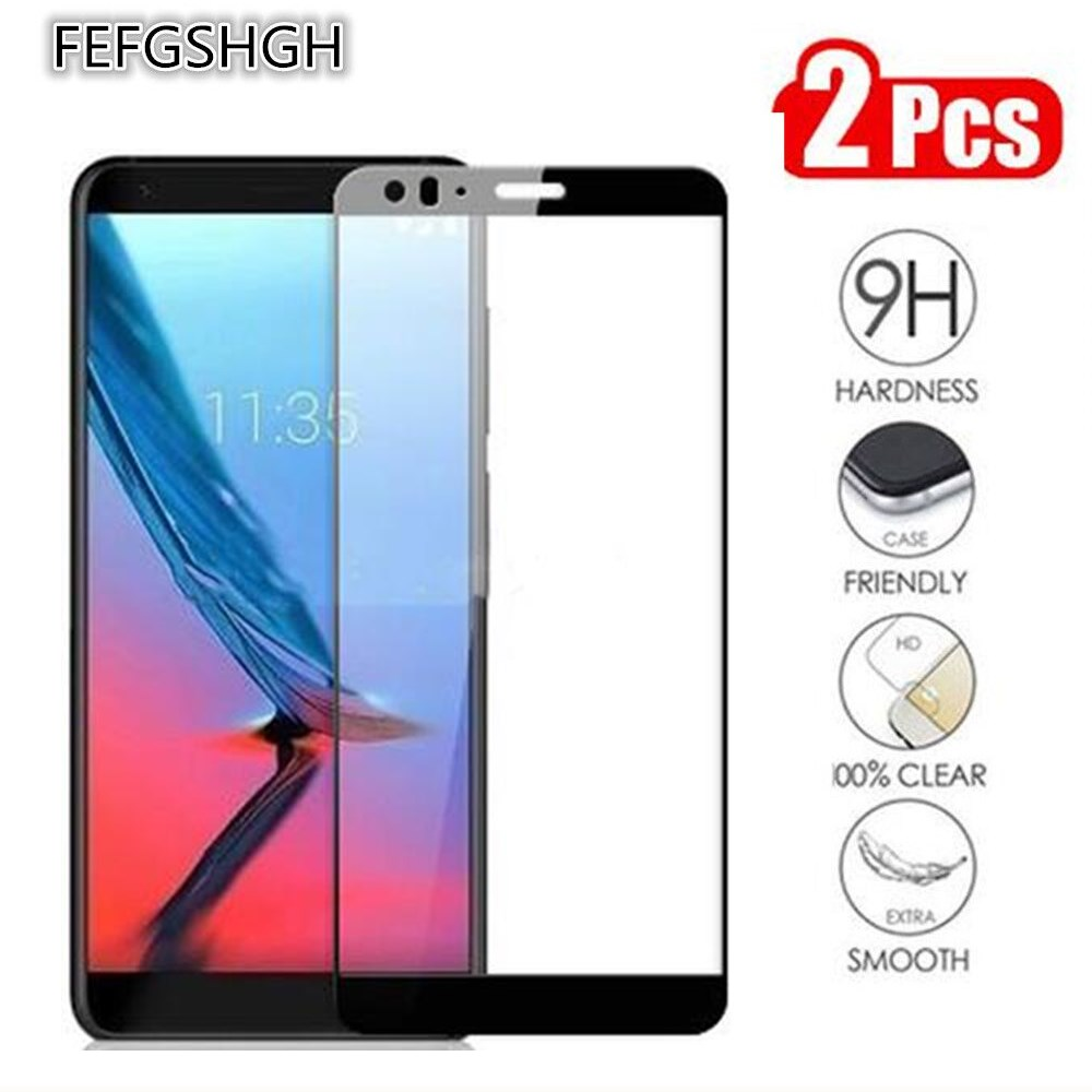 2 Packs Full Cover Tempered Glass For ZTE Blade V9 Vita Screen Protector 9H On Phone Protective Glass For ZTE Blade V9