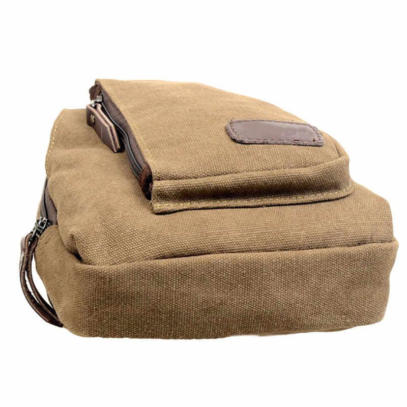 Открытый спортивный холщовый рюкзак, мужская сумка через плечо, Сумка для кемпинга, походов, нагрудная сумка, сумка, Прямая доставка, 5 H