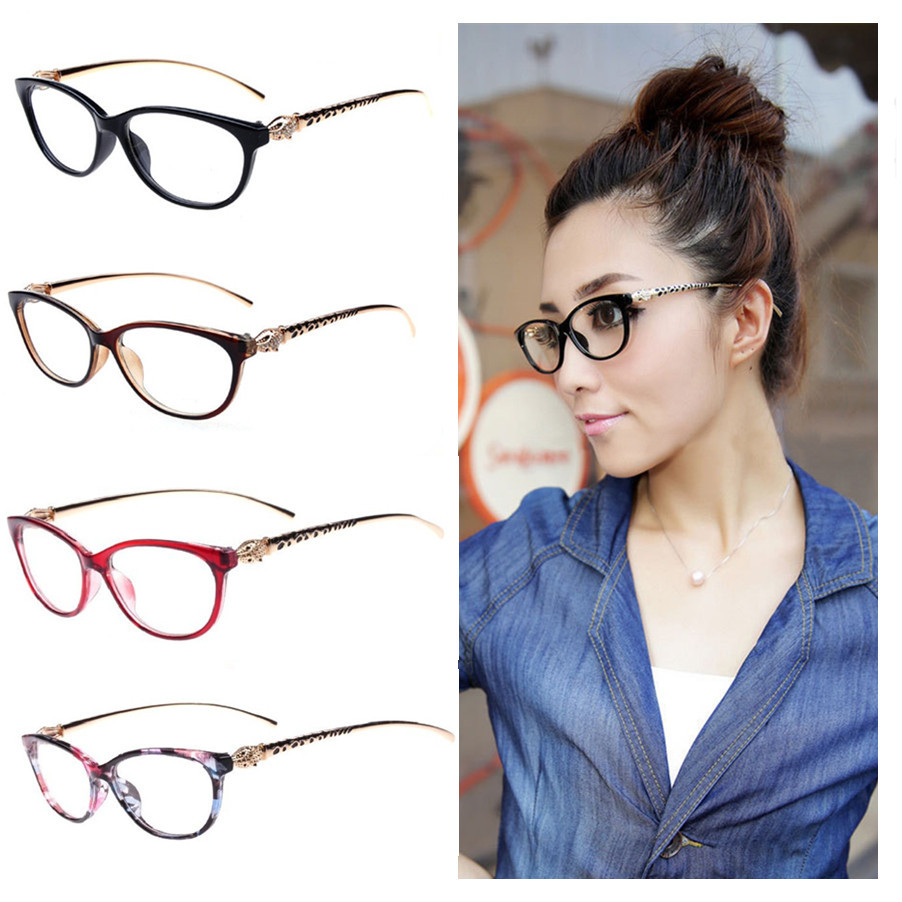 9e6d9bd1ac Fashion Cheetah Earstems Glasses frames Women Ladies Leopard Decorative Reading  Glasses Frame Eyeglasses No Degree