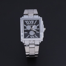 Top Brand Luxury Rome Dial Watch Full Steel Quartz Dress Wristwatches Gift Relogio Masculino Mens Male Watches Silver OP001