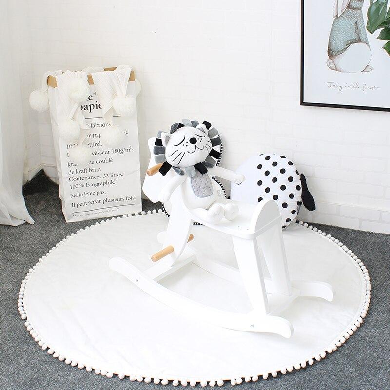 Tapis enfants très doux tapis de jeu bébé en coton dans la pépinière tapis pour enfants tapis pour ramper décoration de chambre tapis de tente 120x120 cm
