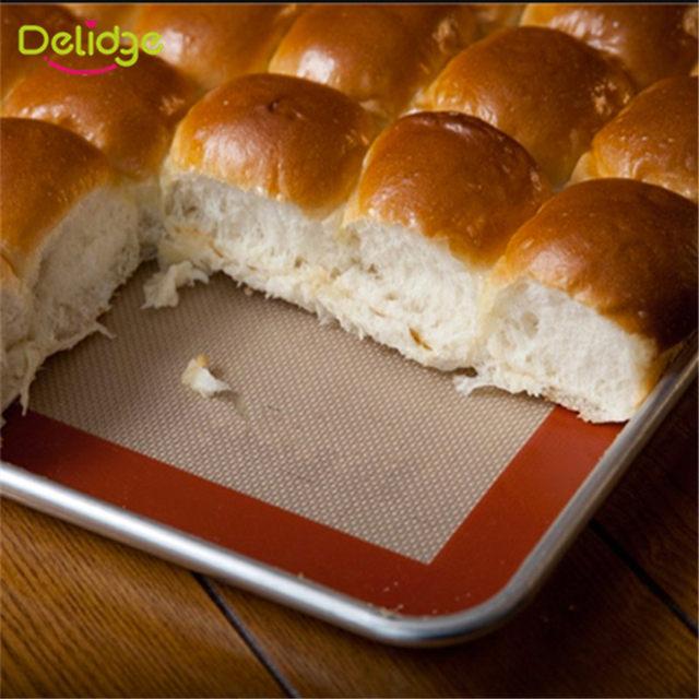 Delidge Pc Grande Taille Cm NonBâton Tapis De Cuisson En - Carrelage cuisine et tapis silicone macarons