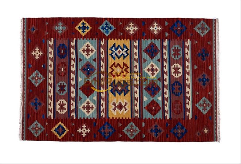 handmade wool kilim rugs living room rug bedroon bedside blanket corridor Mediterranean style sf06redgc131kilimyg4