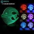 3D Fish Night light lamp DC5V Rechargeable led light RGB Color Touch sensor light for bedroom living room.