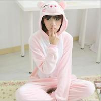 Sleepwear Pajama Kigurumi Pink Cute Harajuku Unicorn Home Clothes For Women Bathrobe Lingerie Pyjamas Negligee Pug
