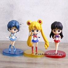 Q posket marinero Luna Tsukino Usagi/marinero mercurio Mizuno Ami/marinero Marte Rei Hino de acción | PVC figuras de acción juguetes 3 unids/set