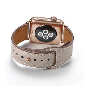 Image 5 - Fildişi beyaz hakiki deri saat kayışı kayışı için Iwatch 38mm 44mm , VIOTOO siyah renk deri saat kayışı elma izle için kayış