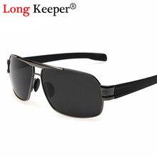 55d0a0b68551a Longo Goleiro Retro Óculos Polarizados Homens Óculos de Sol Óculos de Sol  Condução Óculos Eyewears gafas