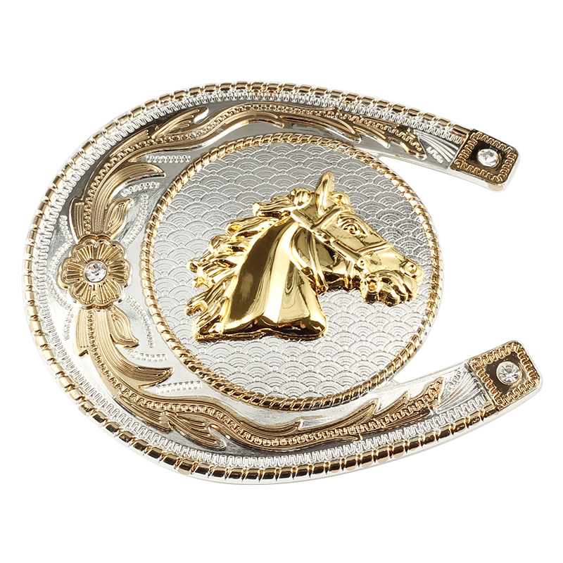 Equestrian Sports Horse Belt Buckle Decorative Pattern Design For 3.8cm Width Of The Belt