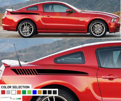 Auto Side Sticker Decal Kit Strepen Voor Ford Mustang Stijl Racing Sport 2009-2015 Auto Styling Makkelijk Te Gebruiken