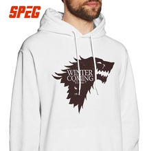 Game Of Thrones Hoodie for Men Winter Is Coming House Stark Blood Wolf Casual Hooded Tops Pure Cotton Printing Hooded Sweatshirt wolf by wolf blood for blood
