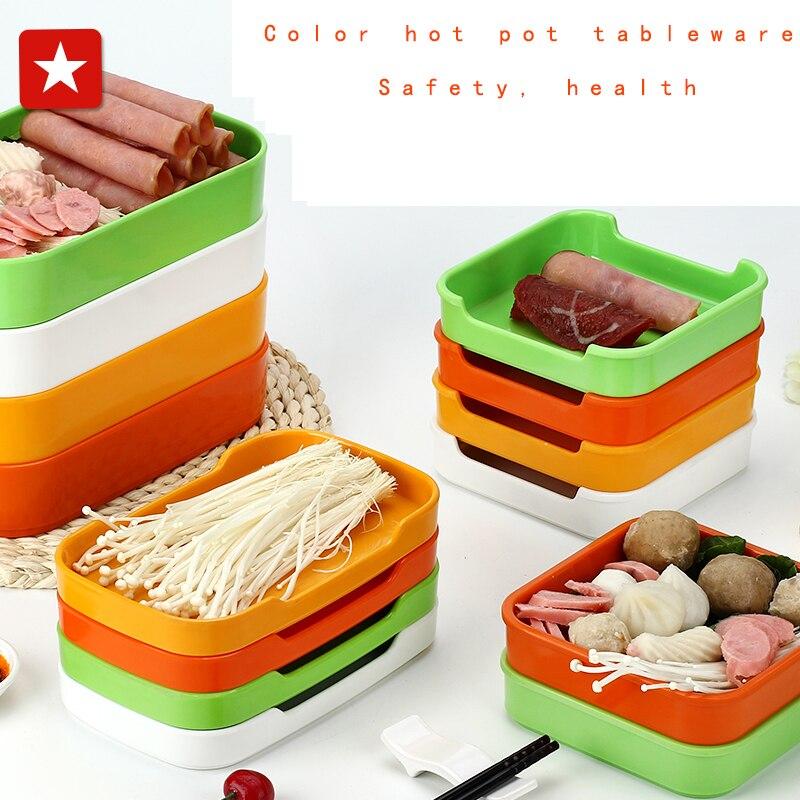 Korean color rectangular plate melamine buffet restaurant, barbecue ...