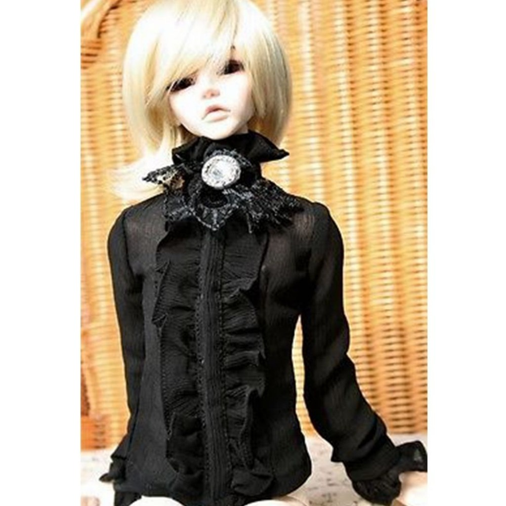 PF Shirt 1//4 MSD AOD DOD BJD Dollfie Dress 80# Black Lace Top