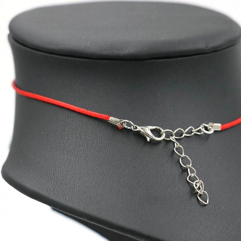 1da7e887319d Bppccr mujeres cuerda color rojo gargantilla Cordones COLLAR COLGANTE de  Buda de oro color amantes regalo