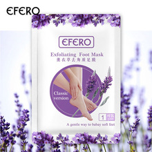 efero 12pcs=6pair Exfoliating Foot Mask for Legs Remove Dead Skin Smooth Feet Care Sosu Pedicure Socks Detox Patch