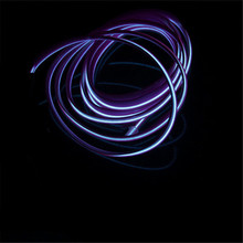 1m-5m Flexible Car EL Wire Neon Light Dance Festival Led strip EL lights With 12V Driver 2.3 MM with sewing edge 10 accessories