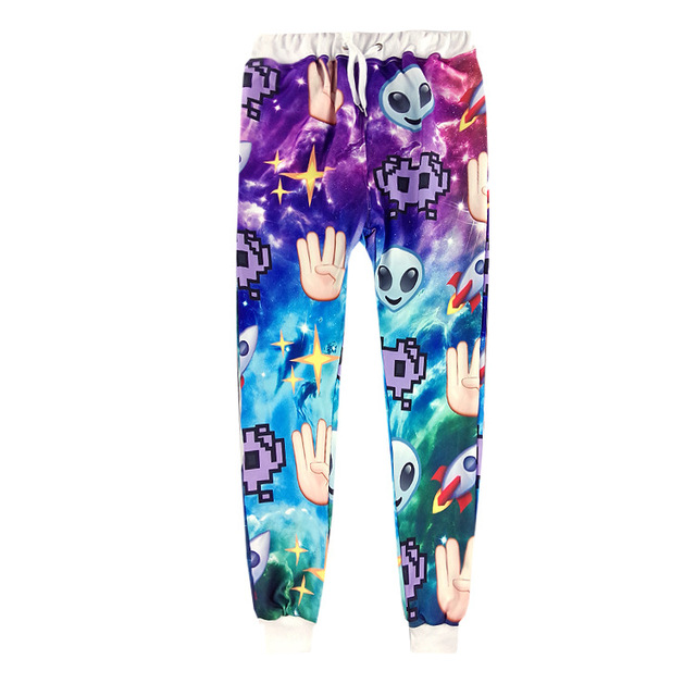Nueva manera de los hombres/de las mujeres 3d print skull star rocket modelo palma súper pantalones casual pantalones de chándal basculador pantalones de hip hop pantalones harén