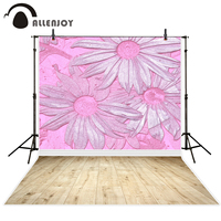 Allenjoy photography backdrop pink flower Three-dimensional baby wood backgrounds photocall photobooth original design