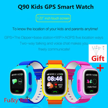New Q90 Q80 GPS Phone Positioning Fashion Children Watch 1.22 Inch Color Touch Screen SOS Smart Watch
