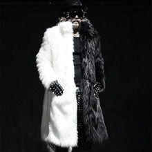 S/6Xl Male Winter Casual Mink Fur Overcoat Plus Size Mens Warm Fur Clothes Large Size Fake Outwear Clothes Faux Fur Jackets K520